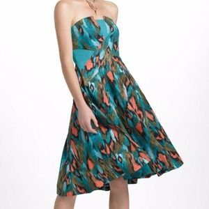 Anthropologie Girls From Savoy Painted Ikat Dress